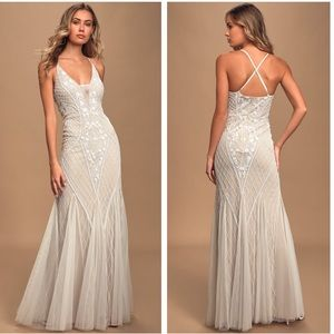 Lulu's This I Promise You Beaded Sequin Maxi Dress